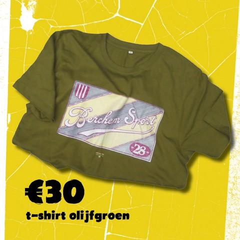 T shirt olijfgroen